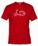 Camiseta Moto Roja 001